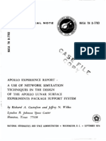 Apollo Experience Report a Use of Network Simulation Techniques in the Design of the Apollo Lunar Surface Experiments Package Support System