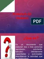 DIAPOSITIVAS  PERMISOS DE TRABAJO