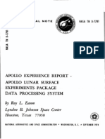 Apollo Experience Report Apollo Lunar Surface Experiments Package Data Processing System