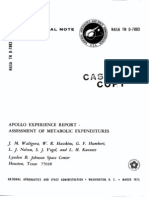Apollo Experience Report Assessment of Metabolic Expenditures