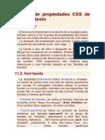Repaso de propiedades CSS de  Fuente y texto