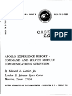 Apollo Experience Report Command and Service Module Communications Subsystem