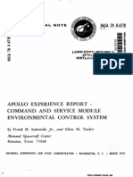 Apollo Experience Report Command and Service Module Environmental Control System
