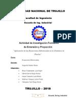 """""""Aplicación de las Ecuaciones Diferenciales en la Dinámica de Fluidos"""""""