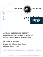 Apollo Experience Report Command and Service Module Instrumentation Subsystem