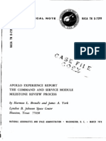 Apollo Experience Report Command and Service Module Milestone Review Process