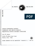 Apollo Experience Report Command and Service Module Sequential Events Control Subsystem