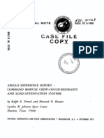 Apollo Experience Report Command Module Crew-Couch Restraint and Load-Attenuation Systems