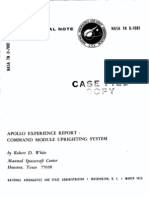 Apollo Experience Report Command Module Up Righting System