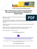 ASIT, A Revolutionary Creative-Thinking Method, Will Lead You Step-By-Step From Deadlocks To Breakthroughs