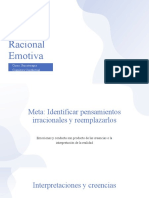 TRE Terapia Racional Emotiva