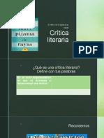 Crítica Literaria - Estructura