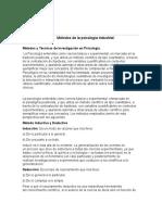 metodos de la psicologia industriiak