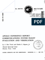 Apollo Experience Report Communications System Flight Evaluation and Verification