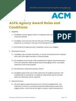 ALPA Agency Award Rules and Conditions V5 2004