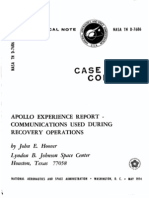 Apollo Experience Report Communications Used During Recovery Operations