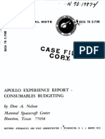 Apollo Experience Report Consumables Budgeting