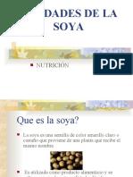 BONDADES DE LA SOYA