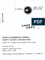 Apollo Experience Report Crew Station Integration Volume IV Stowage and Support Team Concept