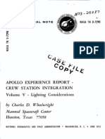 Apollo Experience Report Crew Station Integration. Volume V Lighting Considerations