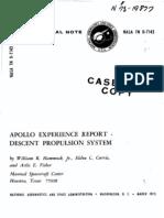 Apollo Experience Report Descent Propulsion System