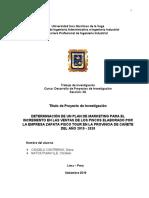 Esquema del trabajo DIPIN 2019-2 - Sección 3A