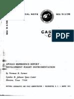 Apollo Experience Report Development Flight Instrumentation