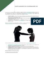 Modelos de educación parental con el adolescente con TDAH