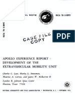 Apollo Experience Report Development of the Extravehicular Mobility Unit