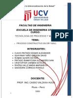 TECNOLOGIA DE MATERIALES TRABAJO DE DRY WALL