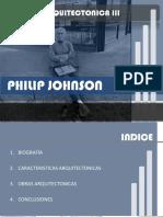Philip Jhonson. Análisis Arquitectónico