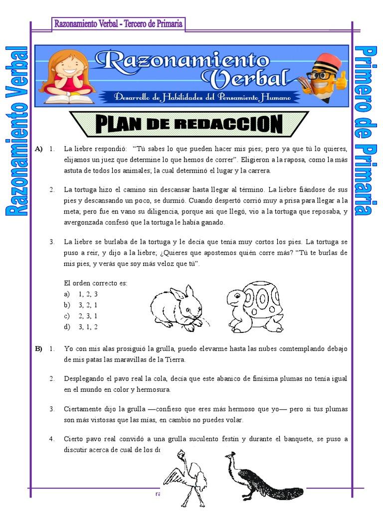 01 Plan De Redaccion Tercero De Primaria Organismos Naturaleza