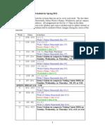 MTH141 Schedule S11