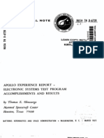 Apollo Experience Report Electronic Systems Test Program Accomplishments and Results
