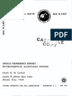 Apollo Experience Report Environmental Acceptance Testing