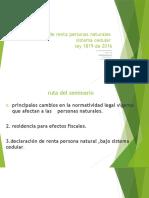 seminario taller Novedades en la declaración de renta de personas
