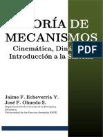 TEORÍA DE MECANISMOS - Carátula y paginas iniciales