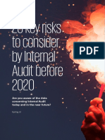 20 Key risks to consider by Internal Audit before 2020