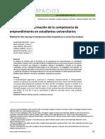 Método para la formación de la competencia de emprendimiento en estudiantes universitarios