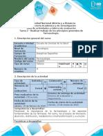 Guía de actividades y rúbrica de evaluación - Tarea 2  Farmacologia