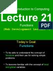 21 Functions CS101