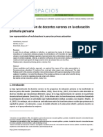 Baja representación de docentes varones en la educación primaria peruana