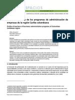 Perfil del docente de los programas de administración de empresas de la región Caribe colombiana