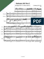 albinoni sinfonia in gmaj mov2 - va quartet bc.pdf