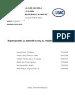EL PRESEUPUESTO, LA ADMINISTRACIÓN Y SU RELACION CON LA AUDITORIA-Nuevo.docx