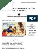 Top 32 Teacher Survey Questions for Questionnaires _ QuestionPro