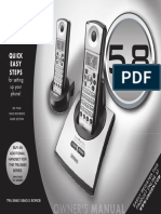 Cordless phone Uniden TRU5860