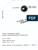 Apollo Experience Report Flight Instrumentation Calibration