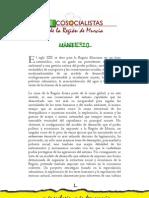 MANIFIESTO ECOSOCIALISTAS DE LA REGIÓN DE MURCIA