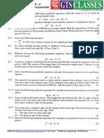 problems on quadratic equations